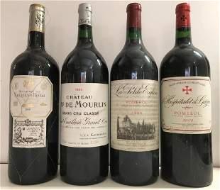 Four magnum bottles La Petite Eglise Pomerol 1996