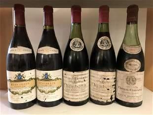 Red Burgundy Chambertin 1962 Cuvee Heritiers Latour