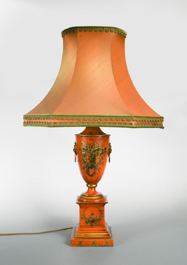 A modern brass Bouillotte style table lamp,