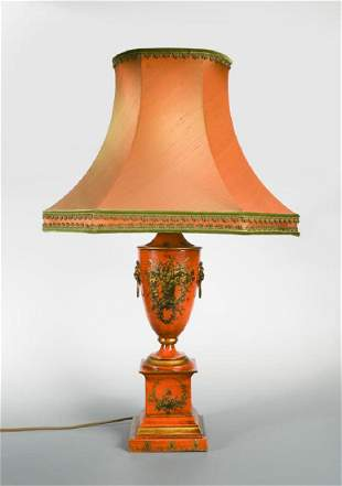 A modern brass Bouillotte style table lamp