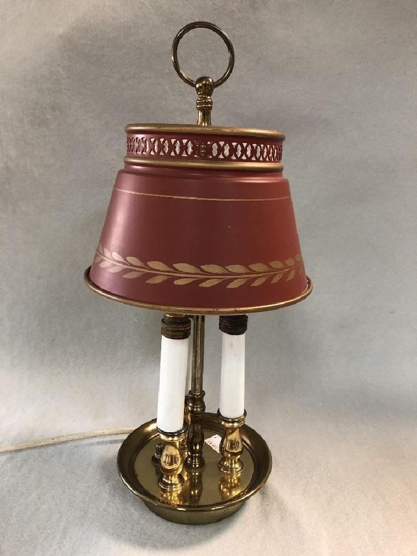 A modern brass Bouillotte style table lamp, - 2