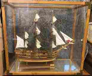 Endeavour a wooden model ship