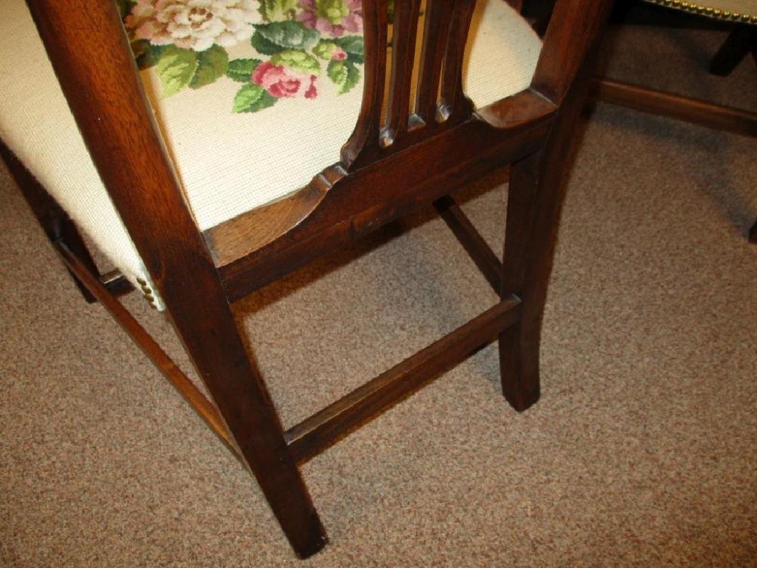 A set of three George III mahogany dining chairs, - 3