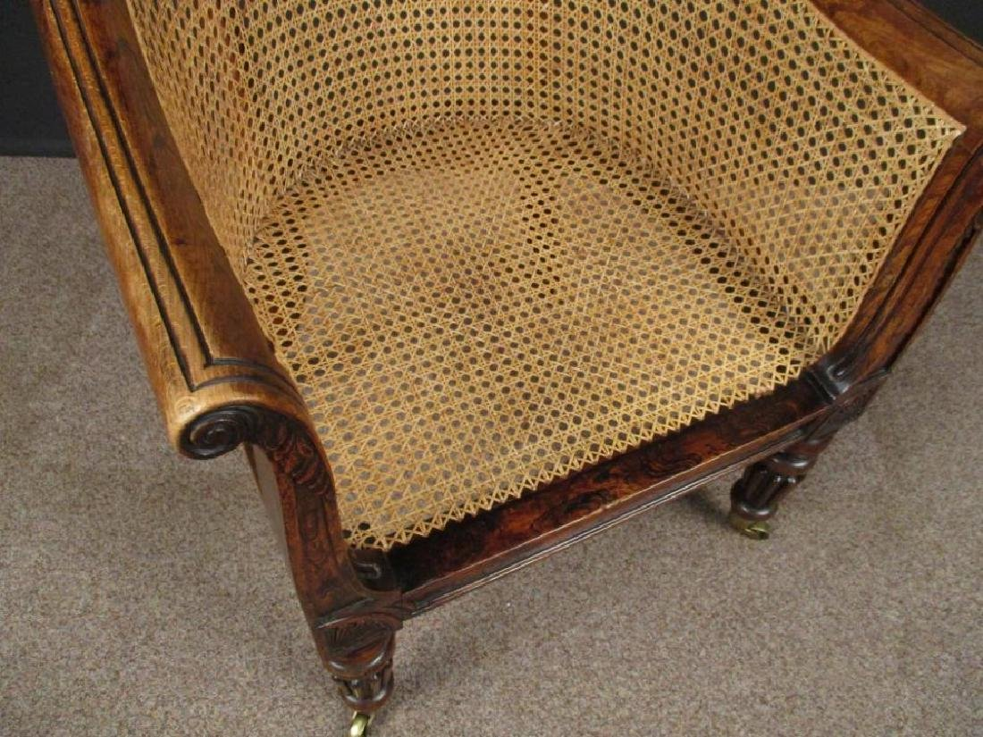 A Regency faux rosewood bergere library chair, - 3