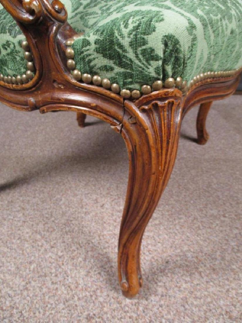 A Louis XV style French walnut armchair - 2