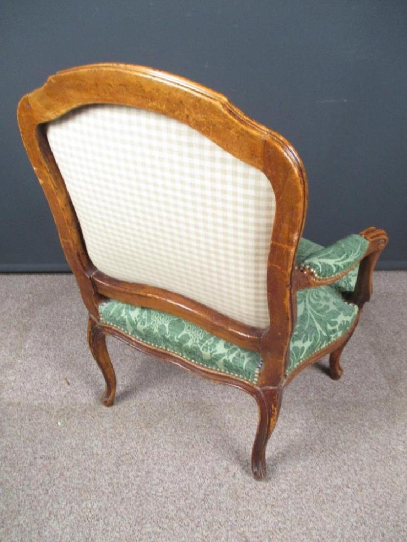A Louis XV style French walnut armchair - 3