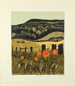 Robert Tavener British 19202004 Poppies and Downs