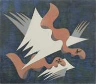 § Edward Wadsworth (British, 1889-1949) Composition on