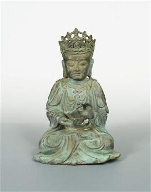A bronze figure of a bodhisattva possibly Ming
