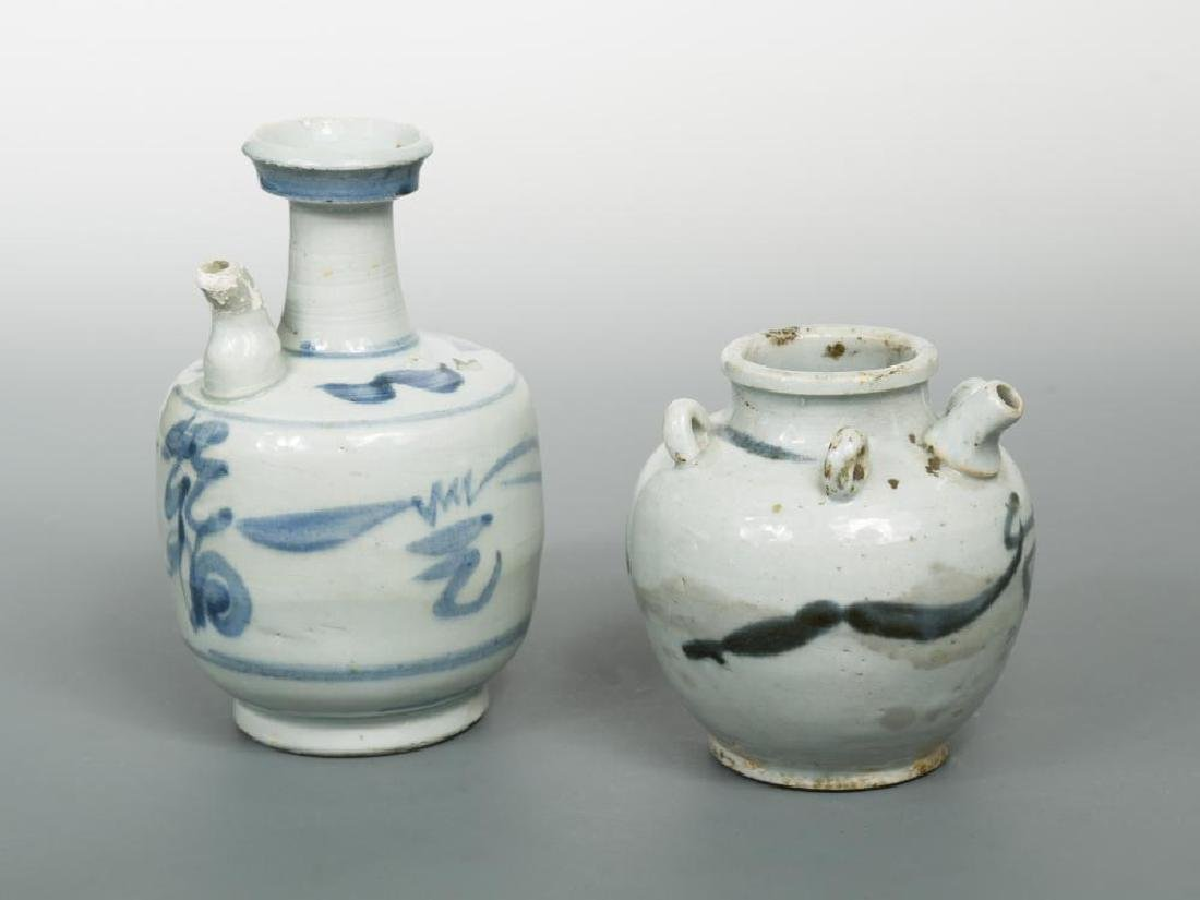 Two provincial Ming dynasty ewers,