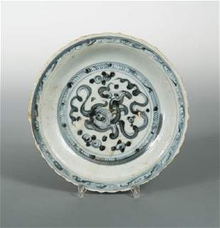 An early provincial Ming dynasty barbed rim dish