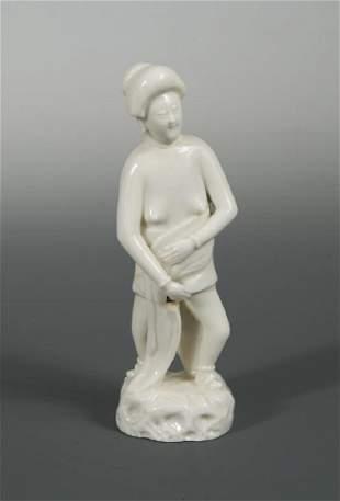 A Blanc de Chine figure of Eve Kangxi period
