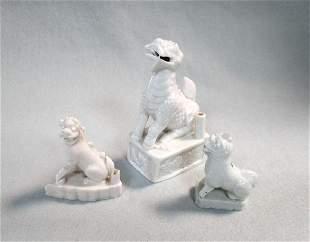 A group of three Qilin joss stick holders Kangxi or