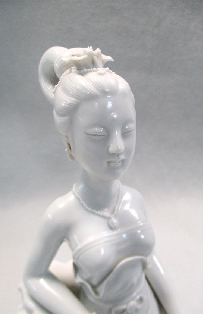 A Dehua sculpture of a lady, 20th century, - 2