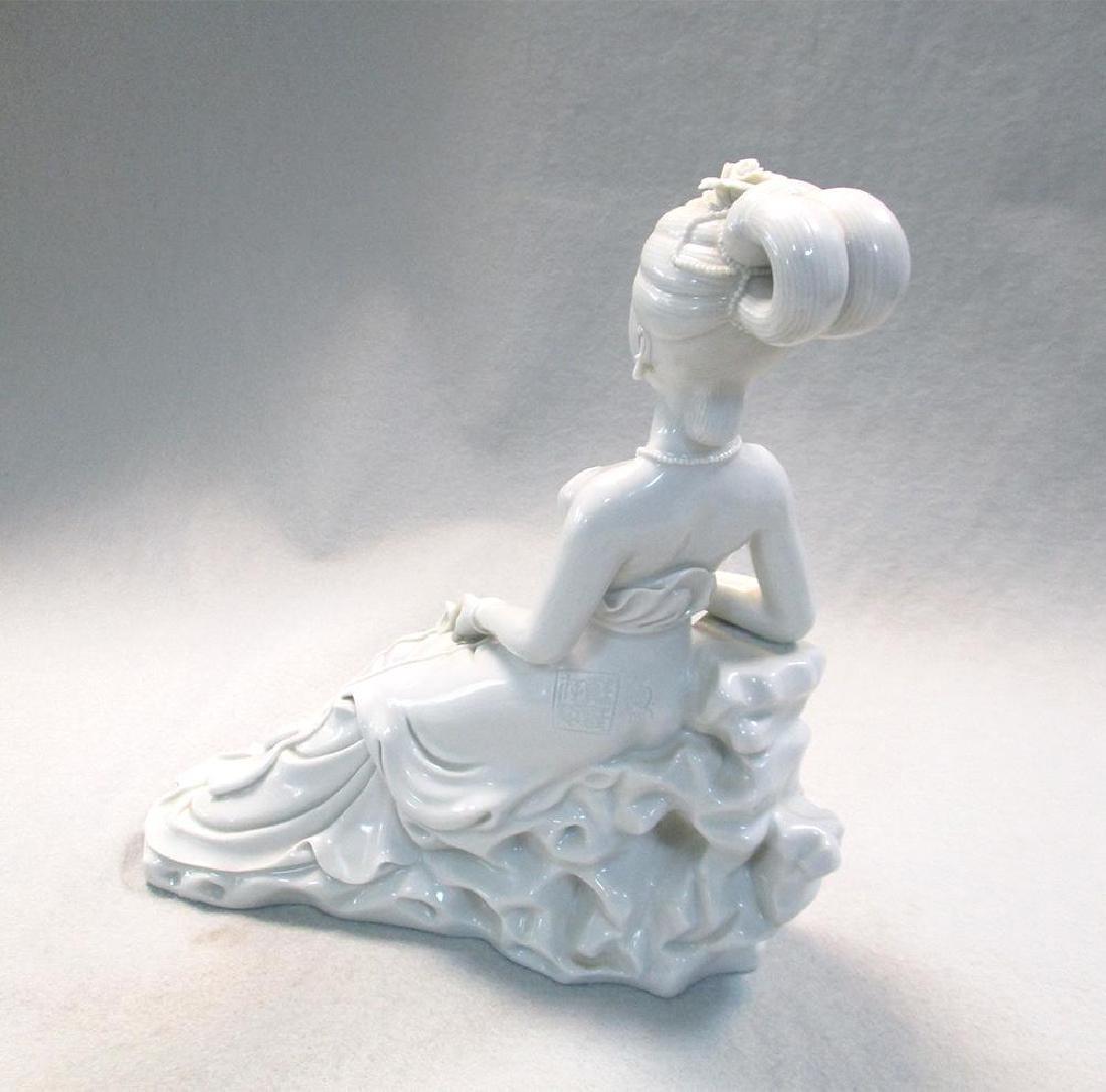 A Dehua sculpture of a lady, 20th century, - 4