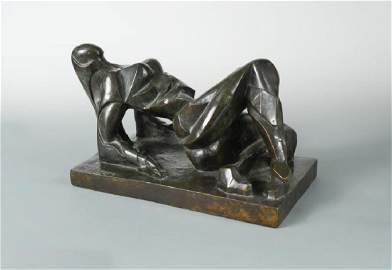 § Oswald Herzog, (German, 1881-1939), reclining female