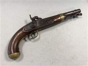 An American Model 1842 Percussion Cap Cavalry Pistol by