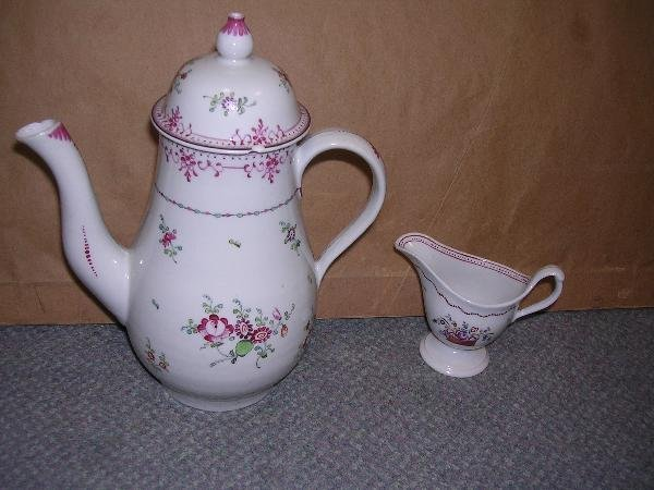 26: Newhall coffee pot and cover and cream jug