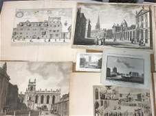 Oxford, a collection of unframed engravings and prints,
