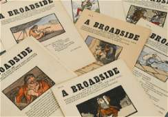 CUALA PRESS BROADSIDES. A complete set of 84 issues of