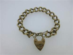 A 9ct gold curb link bracelet