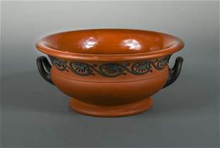 A 19th century Wedgwood Rosso Antico two-handled