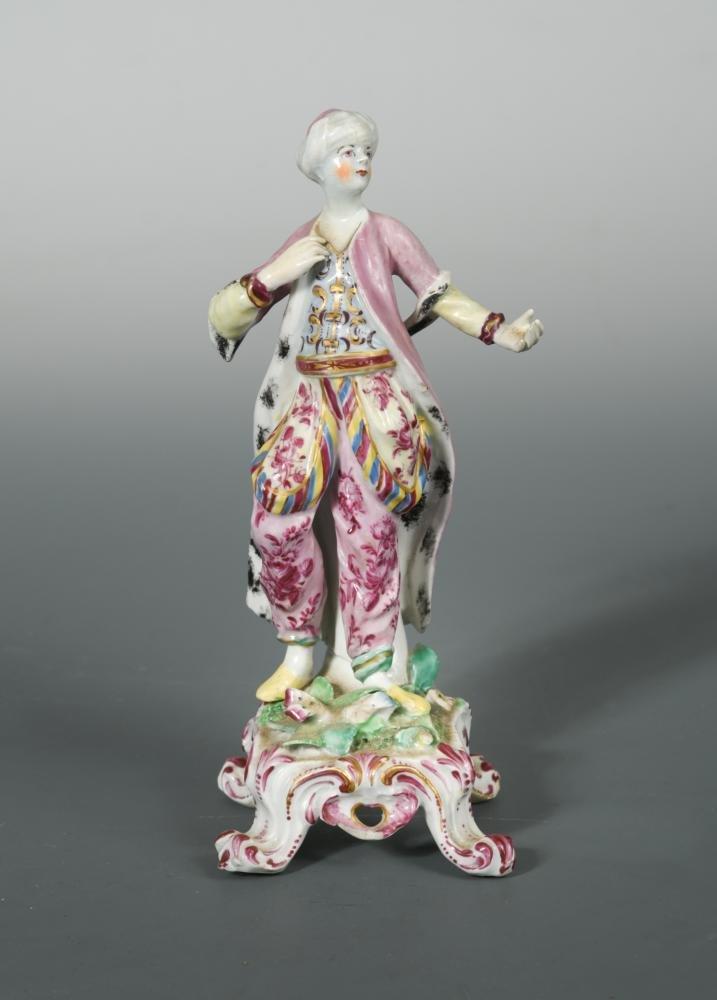 A Bow model of a man dressed as a Turk, circa 1765,