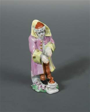 A Longton Hall figure emblematic of winter, circa 1755,