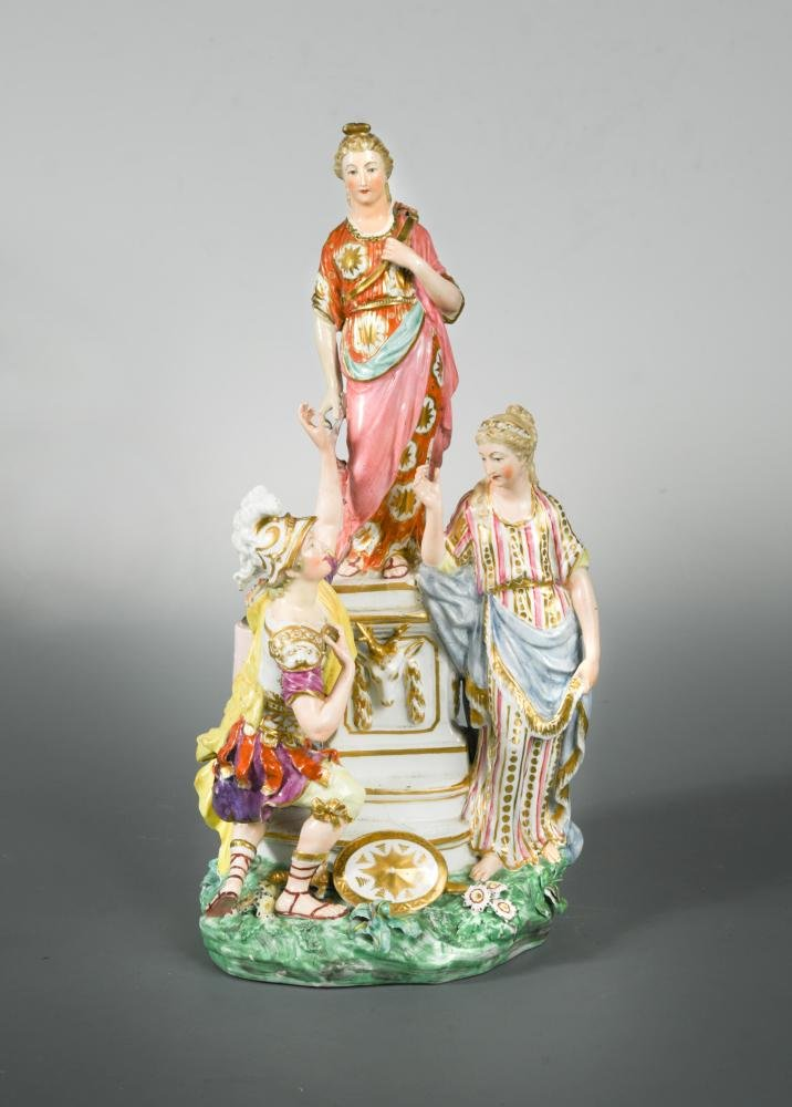 A Derby group of Jason and Medea at the altar of Diana,