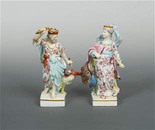 A pair of Derby figures of Juno and Jupiter, circa