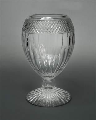 A large Mario Cioni cut glass vase
