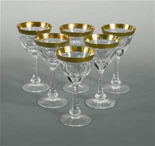 A set of eight Moser Lady Hamilton pattern liqueur