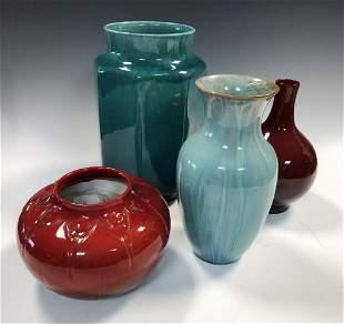 Four Pilkingtons Lancastrian vases