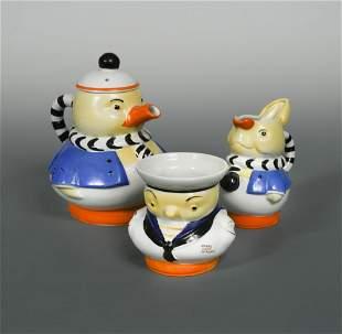 A Shelley Mabel Lucie Atwell threepiece nursery set