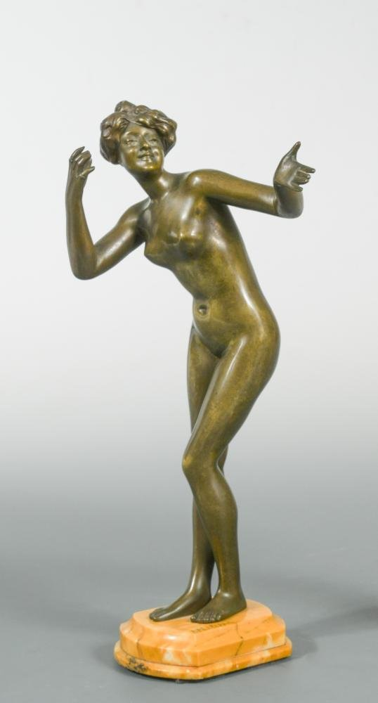 Paul Philippe (French 1870-1930), an Art Nouveau bronze