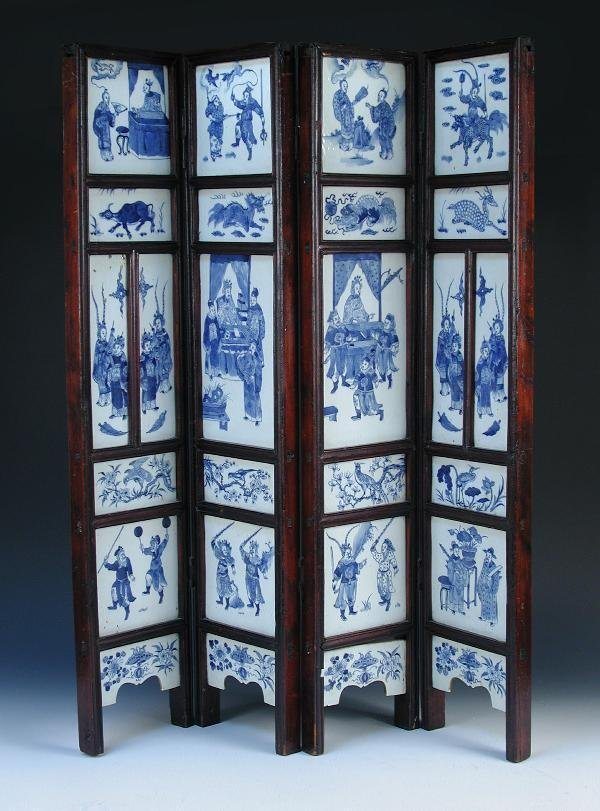 127: A CHINESE PORCELAIN SCREEN