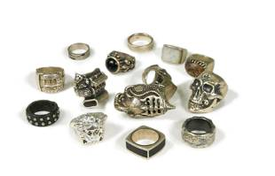 Gianni Versace medusa head silver ring,