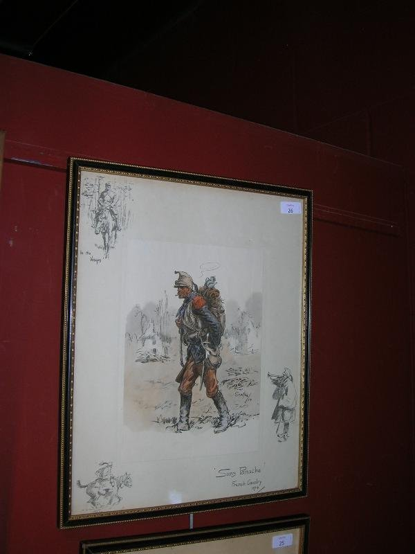 1026: AFTER SNAFFLES  SANS PANACHE   COLOUR PRINT LAID