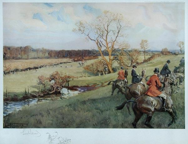 1030: AFTER LIONEL EDWARDS  A SET OF TEN HUNTING