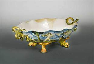 A 19th century Cantagalli twohandled dish