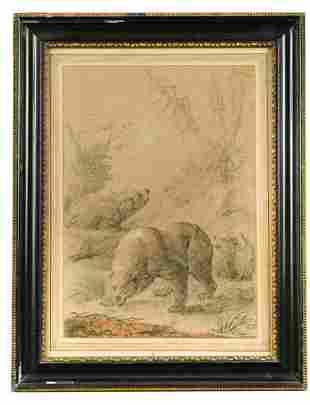 Johann Melchior Roos German 16631731 Three bears in