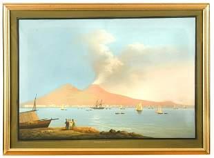 Luigi Fagazza Italian 19th Century The Bay of Naples