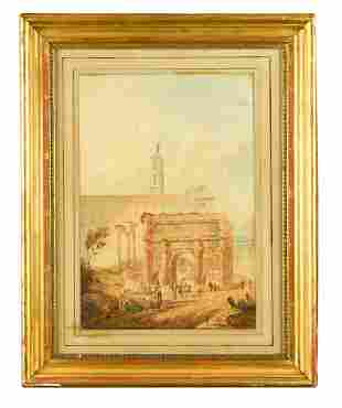 English School 19th Century Forum Romanum
