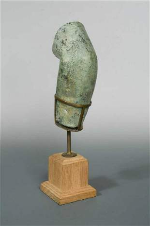 A Roman bronze section of a male arm possibly 2nd or