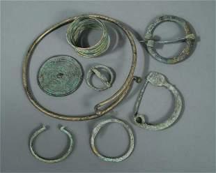 A Roman bronze hand mirror circa 100 BC,