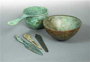 A Roman bronze pan, 1st or 2nd century AD,