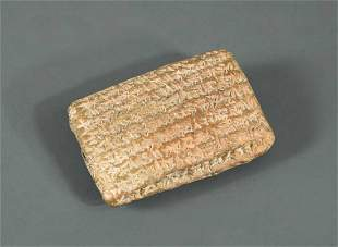 A Neo-Babylonian cuneiform tablet, 543BC,