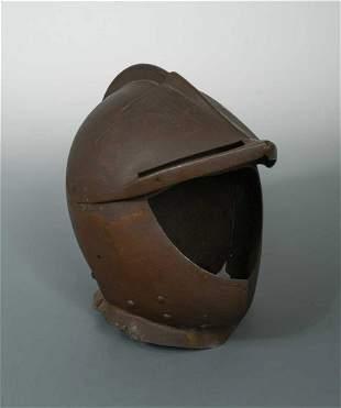 A late 16th century tilt armour helmet,