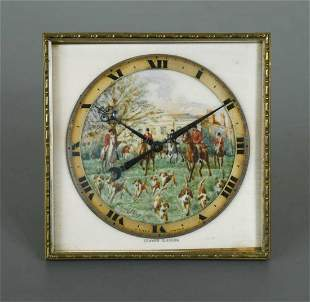 """An ivory mounted """"hunting"""" strut clock by Edward,"""