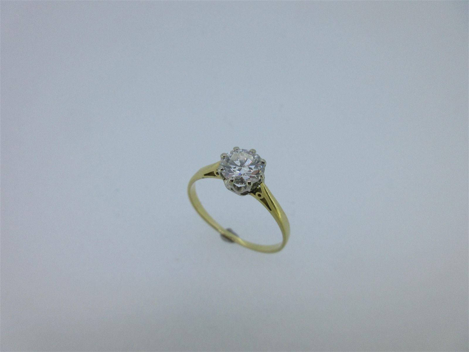 A single stone diamond ring,